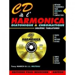 CD à l'harmonica diatonique et chromatique +CD