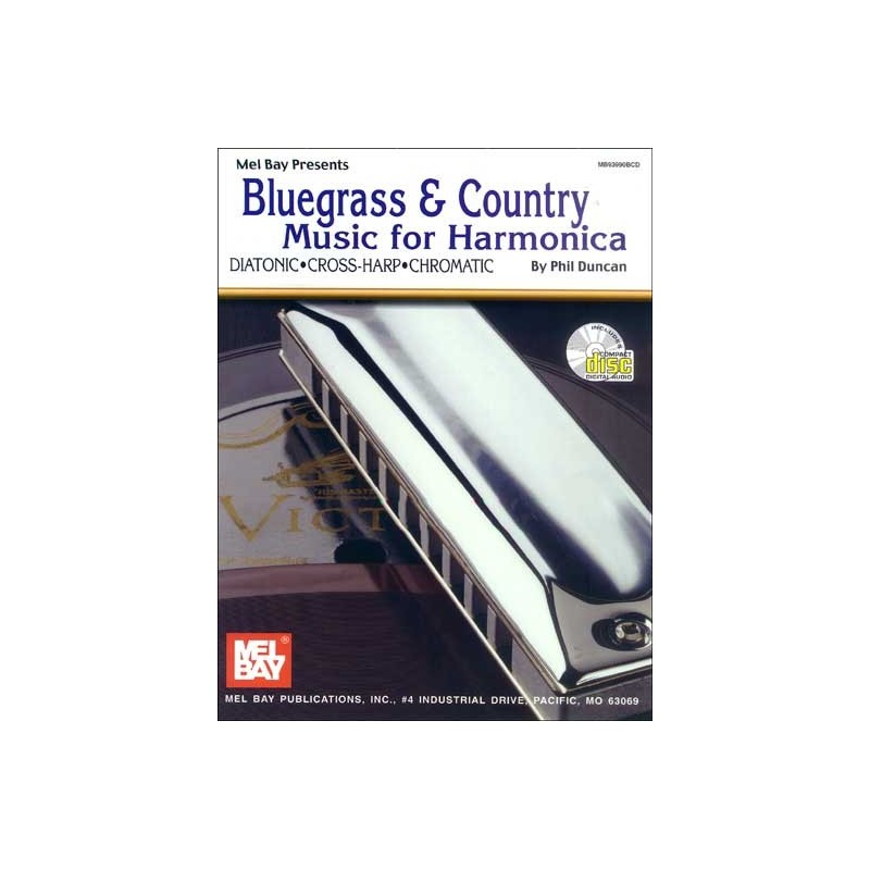 Bluegrass & Country  music for harmonica +CD